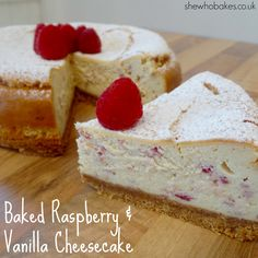 Baked Raspberry Cheesecake - She Who Bakes