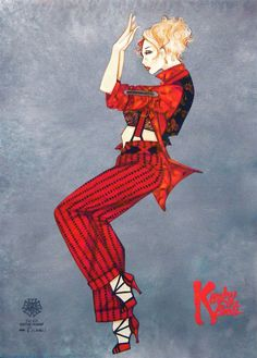 """Kinky Boots"" Broadway - costume sketch by Gregg Barnes"