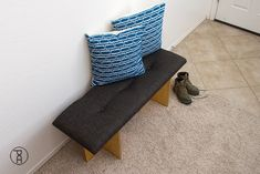 How to make a tufted headboard, bench, or other furniture using a super simple no sew hack! Quick and easy video tutorial.