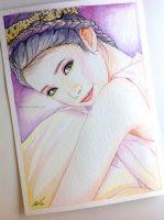 IU fan art painting by antuyetlai