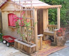 small-wooden-outdoor-playhouses