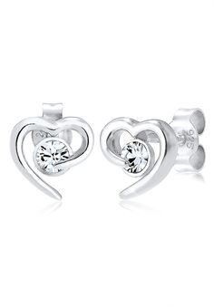 Elli silver earrings with Swarovski® crystals - the perfect wedding jewelry