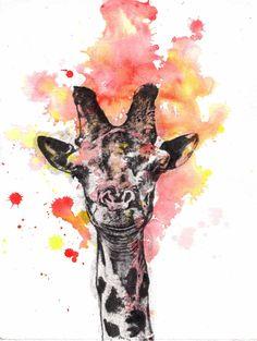 watercolor giraffe - Google Search