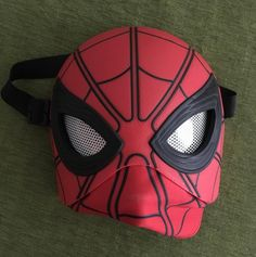 Modded my $9.99 Target Spider-Man mask with some plastic packaging from an action figure for lenses and some perforated tape. Whatcha think? #SpiderManHomecoming #SpiderMan #cosplay #cosplayer