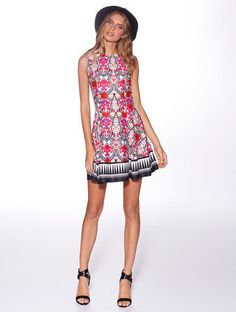 Honey & Beau 'Marrakesh' Skater Dress in Tribal Rose – Lotus Boutique