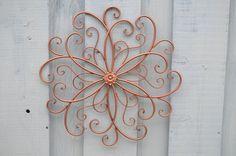 Copper Christmas Decoration / Ornate Wall by DiamondintheRust