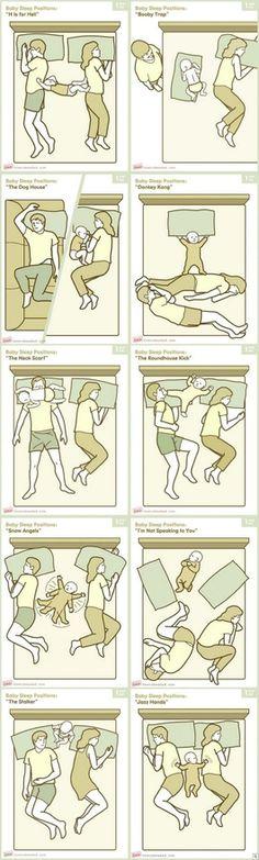 baby sleep positions  So true.