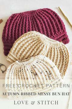 Crochet Headband Free, Crochet Beanie Hat, Beanie Pattern, Slouch Hats, Ribbed Crochet, Crochet Fall, Fast Crochet, Tunisian Crochet, Crotchet