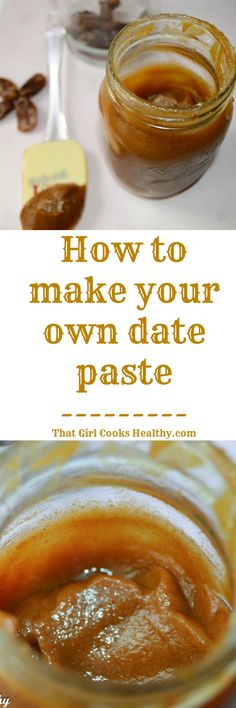 Date paste; try also with dried figs, raisins, prunes, etc