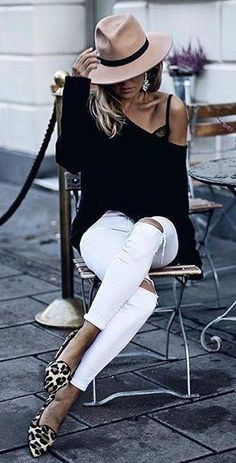 black and white chic with leopard pop to spice things up