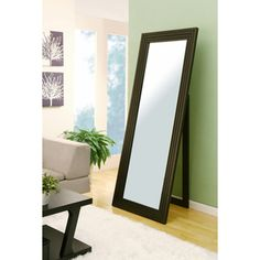 @Overstock - This full length 72-inch cheval mirror complements any room d?cor and welcomes any reflection with a noticeably fine perimeter border in a rich, sleek cappuccino finish. The bold contemporary style brightens up any room.http://www.overstock.com/Home-Garden/72-inch-Bold-Contemporary-Cheval-Mirror/7621822/product.html?CID=214117 $189.54