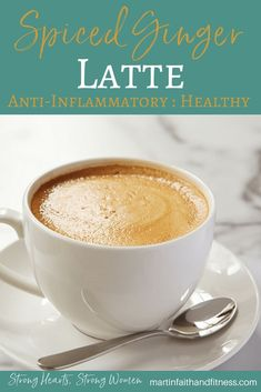 This Spiced-Ginger Latte is delicious, easy, AND healthy! Amazing taste and anti-inflammatory properties! Healthy Holiday Recipes, Healthy Snacks For Kids, Healthy Drinks, Fall Recipes, Kid Snacks, Tea Recipes, Drink Recipes, Delicious Recipes, Yummy Food