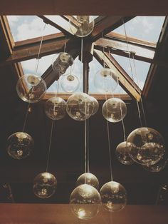 Clear Christmas Bulb Ceiling decor.  : From Almost FREE WEDDING & EVENT