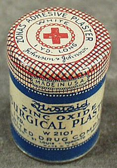 Johnson & Johnson Zinc Oxide Surgical Plaster tin.