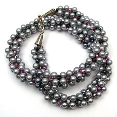 kumihimo with pearls - Google Search