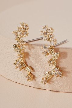 Slide View: 1: Wisteria Climber Earrings