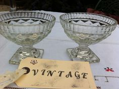 Pressed Glass Sundae dishes by belovedbeguiled on Etsy, £6.00