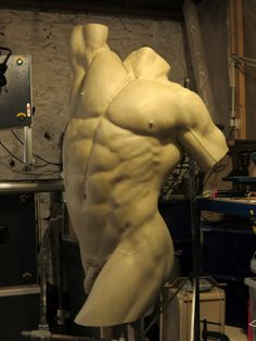 Nick bibby's male torso sculpture. Incredible detail!