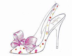 Kate Spade shoe sketch