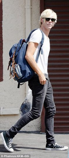Surging: R5 rocker Riker Lynch (left) and partner Allison Holker (right) arrived for rehearsals in Los Angeles after tying Rumer and Val for second place