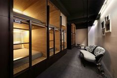 Full of small surprises, this minimalist modern urban retreat blends elements of a free-for-all hostel of bunk beds for college backpackers and high-end hotels catering to business executives. At T…