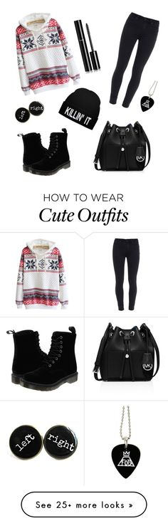 """winter outfit"" by rita-15 on Polyvore featuring Paige Denim, Dr. Martens, MICHAEL Michael Kors and Chanel"