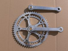 CAMPAGNOLO 50TH ANNIVERSARY crankset 172,5mm with gold dust caps and crankbolts | eBay Vintage Bike Parts, 50th Anniversary, Cap, Gold, Baseball Hat, Vintage Bicycle Parts