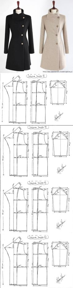 Postile search: simple patterns for complete – Wedding Ideas Coat Patterns, Dress Sewing Patterns, Clothing Patterns, Blazer Pattern, Jacket Pattern, Diy Clothing, Sewing Clothes, Barbie Clothes, Sewing Collars