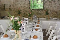 Another table layout in the Summer dining room