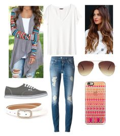 """""""Untitled #32"""" by hintzj2020 ❤ liked on Polyvore featuring 7 For All Mankind, H&M, Vans, Casetify and Forever 21"""