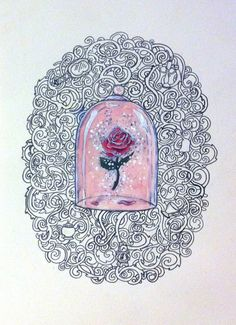 Enchanted Rose tattoo art by ArtistClaireJackson. So amazing, beauty and the beast