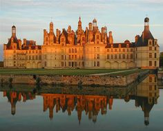 Chateau Chambord in France. This site lists the seven most beautiful castles in France, including Chateau d'Usse, Chateau Chenonceau, and Chateau de Chantilly.
