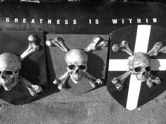 Hand made Pirate Shields from Catacomb Emporium UK