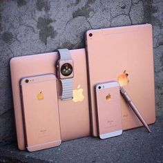 OMG rose gold I love rose gold . I've got an iPad Apple Watch iPhone Apple Pencil and nearly have an Apple Mac