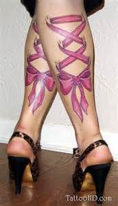 girly tattoos - bows lace up, loved this for a long time