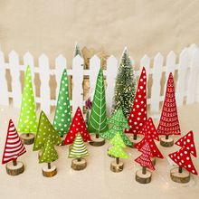 Mini Christmas Tree Decorations Striped Printed Red Green Polk Dot Christmas Trees Kids Toy Christmas Decorations for Home(China) Christmas Tree Design, Outdoor Christmas Tree Decorations, Christmas Tree On Table, Creative Christmas Trees, Fabric Christmas Trees, Wooden Christmas Trees, Christmas Tree Ornaments, Christmas Crafts, Holiday Tree