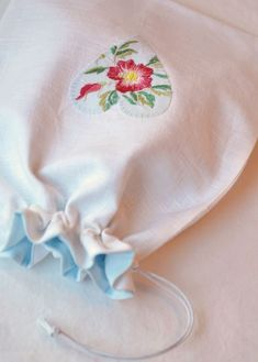 Salvage damaged vintage embroidery by making appliques