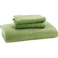 sage green quilt