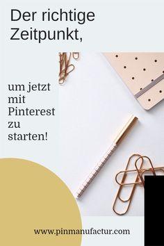 Jetzt endlich mit Pinterest starten. Der richtige Zeitpunkt , um mit Pinterest an den Start zu gehen. Im Online, Entrepreneurship, Online Business, Marketing, Female, Easy, Blogging, Tips And Tricks, Products