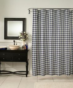 Another great find on #zulily! Denim Classic Check Shower Curtain by m.style #zulilyfinds