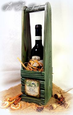 For Your Soul (подарки ручной работы) г. Казань Gift Crates, Wine Gift Boxes, Diy Gift Box, Wine Gifts, Wooden Projects, Woodworking Projects Diy, Wood Crafts, Wine Box Shelves, Wine Barrel Furniture
