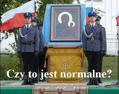 Przynajmniej skrzydeł im nie doczepili. Kirchen, Memes, Poland, Peace, Baseball Cards, History, Jokes, Europe, Historia