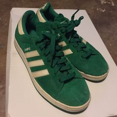 Green Campus Adidas Suede green Adidas campus. Size 8.5 men (fits 10 women's) hardly worn, great Kelly green color. Adidas Shoes Athletic Shoes