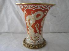Dragon Vase. Decoration: Rosenthat Rot  = red. Selb Bavaria. 16 cm Bavaria, Vases, Ph, Planter Pots, Ebay, Decoration, Design, Home Decor, Dragons
