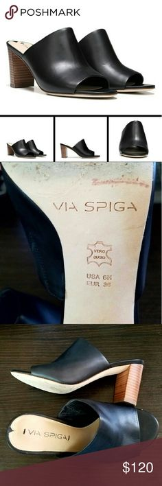Via Spiga Wynola mule Beautiful buttery soft leather. Excellent condition. Very clean. Size 6. Make offers via offer button only. Via Spiga Shoes Mules & Clogs