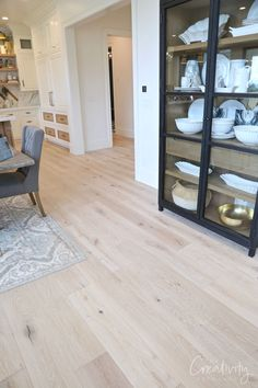 Utah Valley Parade of Homes 2019 The floors throughout the Raykon home are solid French oak Tripoli hardwoods.