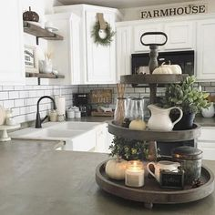 30+ Wonderful Farmhouse Kitchen Ideas on Budget