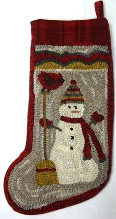 rug hooking christmas stocking - Bing Images