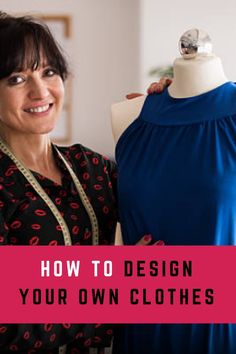 The first step in dressmaking is to design clothes. If you love sewing, you are gonna love this free online course that covers a bit of fashion design, fashion illustration, sewing tips and tricks, and sewing patterns. Design Your Own Clothes, Sew Your Own Clothes, Make Your Own Dress, How To Make Clothes, Sewing Clothes, Diy Clothes, Designing Clothes, Altering Clothes, Dress Sewing