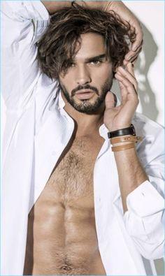 Male Models Poses, Male Poses, Guy Models, Women Models, Marlon Texeira, Photo Mannequin, Brazilian Male Model, Brazilian Men, Beautiful Men Faces
